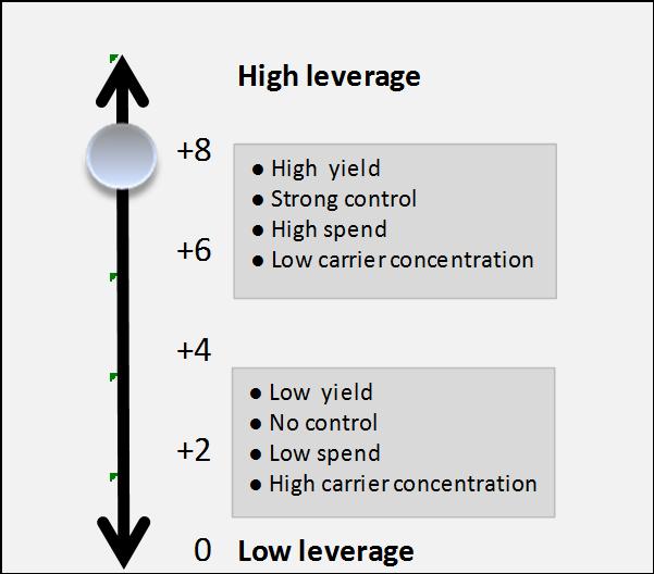 Leverage Scale